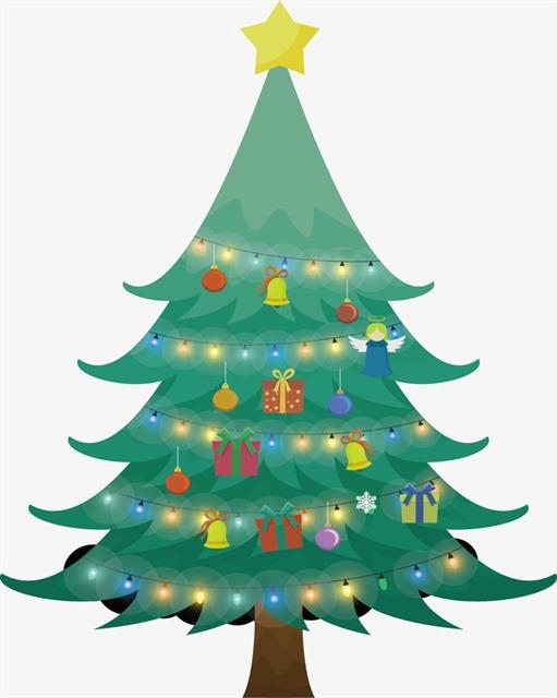 手绘节日圣诞树