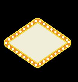 四边形霓虹灯边框