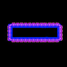 方形紫色霓虹灯边框