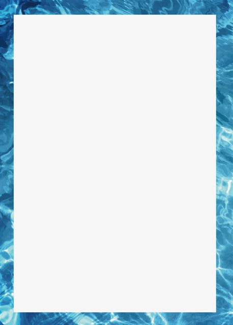 蓝色海洋主题边框