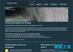英文网站CSS模板