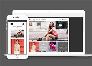 时尚街拍搭配商城网站模板