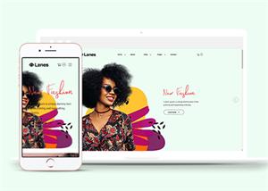 女性服装购物网站模板