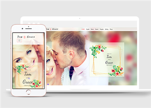 情侣婚礼邀请函HTML5模板