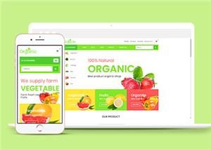 绿色蔬菜水果商城网站模板