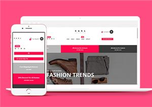 夏季服装线上商城网站模板