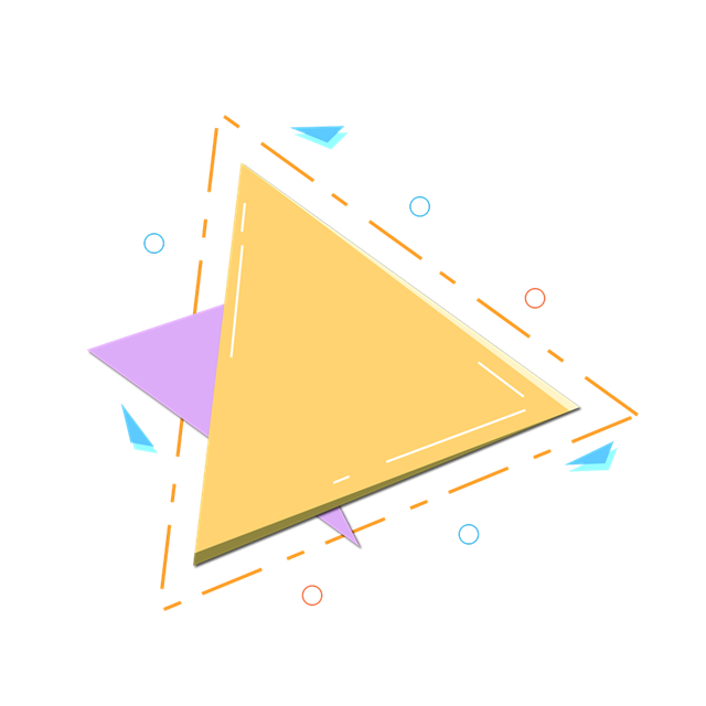 三角几何节日装饰图案
