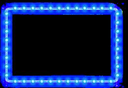 蓝色发光霓虹灯边框