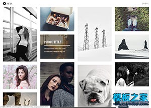 杂志摄影师瀑布流网站模板