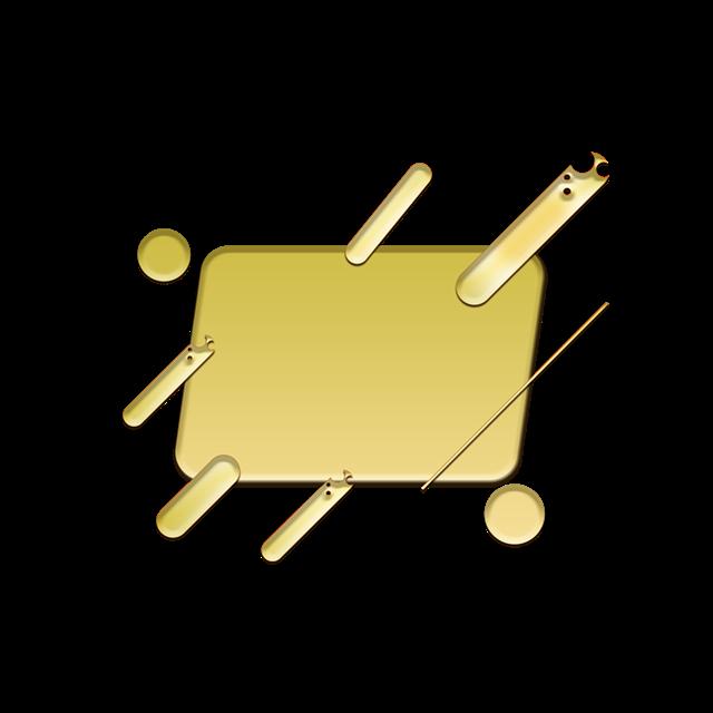 金色立体电商边框图片