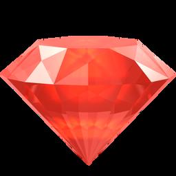 红色立体宝石装饰