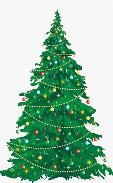 圣诞树蓝线挑战素材