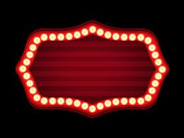 霓虹灯装饰标签边框