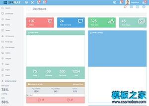 CMS用户后台管理系统整站模板