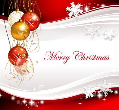 红色圣诞节PPT背景