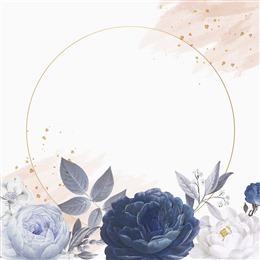 植物花朵边框背景图片