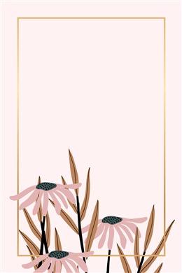 植物边框背景图