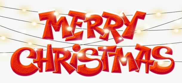 圣诞节快乐字体装饰图片