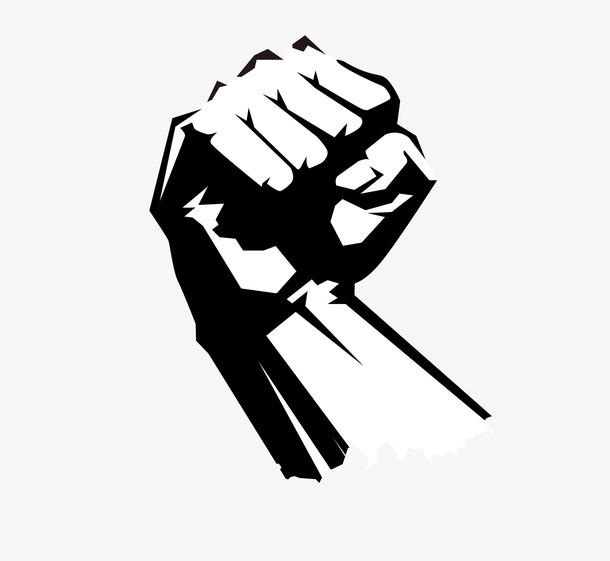 卡通手绘励志拳头