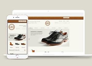 皮鞋定制电商网站模板