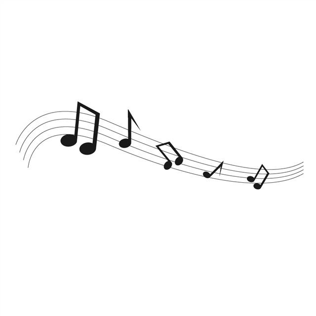 流动的音符五线谱