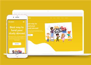 教育幼教美术培训班网站模板