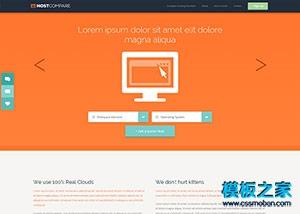 域名主机服务器公司网站模板