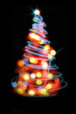 光斑圣诞树圣诞背景