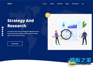 Seo数据分析营销团队网站模板