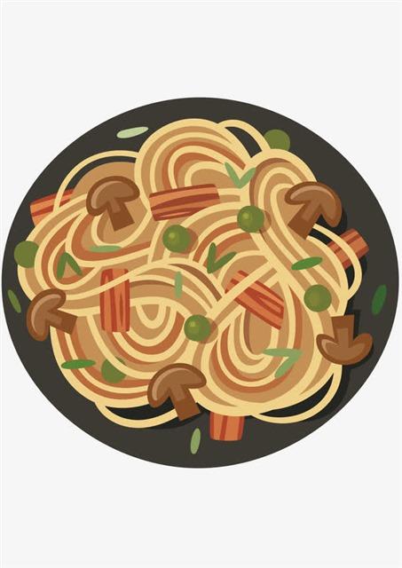 美食菜谱卡通插图