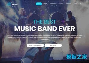 炫彩UI乐队演唱会宣传网页模板