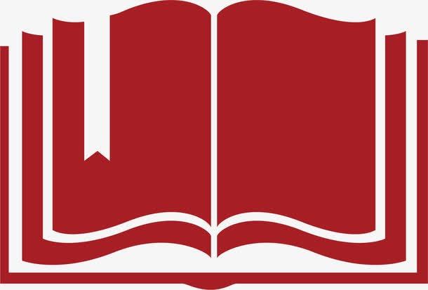红色书本阅读学习图标