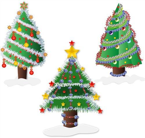 卡通节日圣诞树
