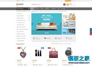 电子产品外贸商城网站模板