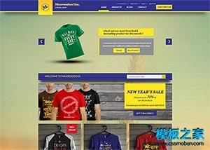 T恤服装商城系统网站