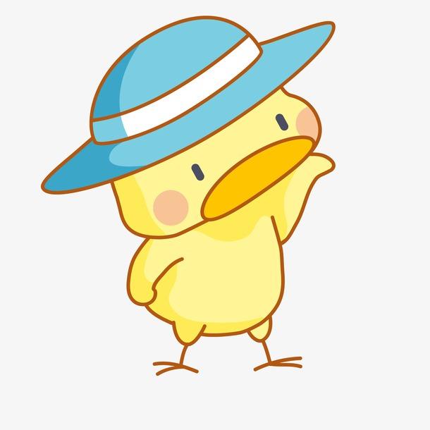 可爱卡通小黄鸭简笔画