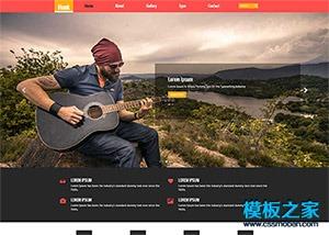 模特写真网站模板