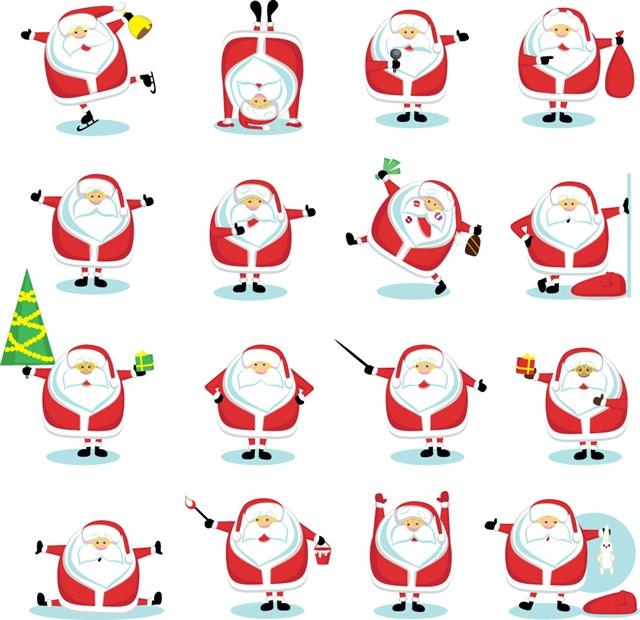 各种圣诞老人图标