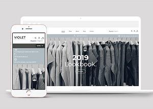 服装店官方售卖促销网站模板