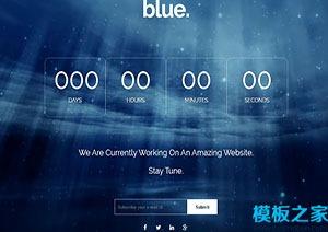 深蓝色网站模板