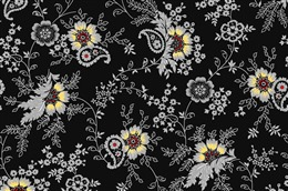 黑色花纹样式图片