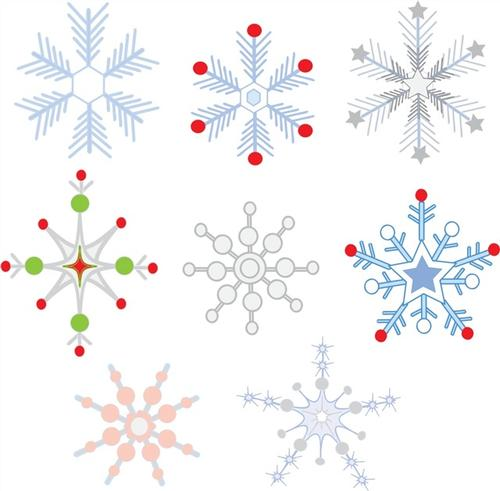 彩色创意圣诞雪花
