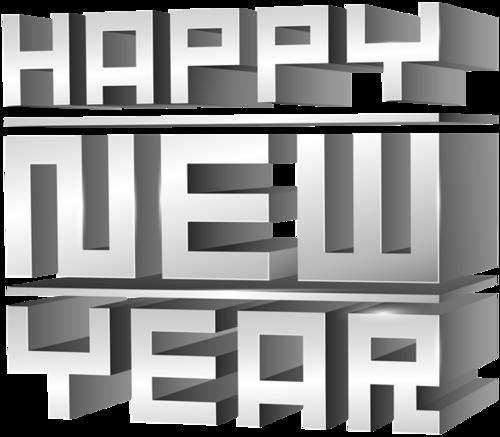 新年快乐3d立体字
