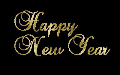 金色质感新年快乐艺术字