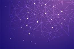 紫色点线科技网络背景