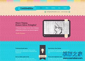 插画设计师主页模板