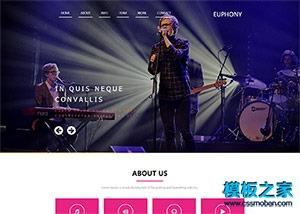 活动演出演唱会票务网页模板