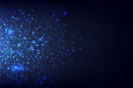 科技感蓝色粒子背景