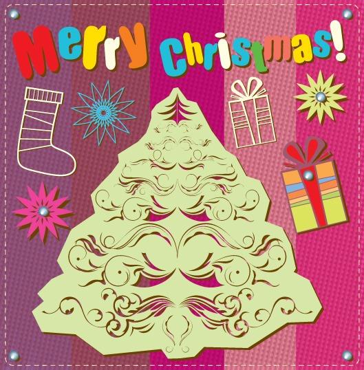 圣诞节贺卡装饰图案