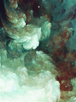 水彩油画云层背景
